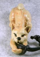 家鴨窯315号 一匹イヌのネックレスと箸置き