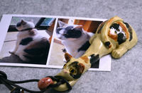 家鴨窯330・334号 愛猫さんがぶら下がるネックレス