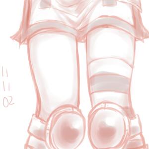 20分:最初はソーマ描こうかなとか思ってたのになぜかピンコの足描きたくなって…足大好き!