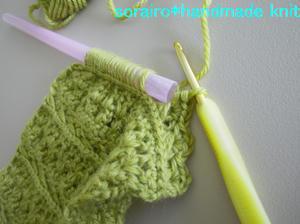 ユニークな編み方