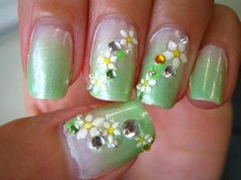 自爪18黄緑グラデ