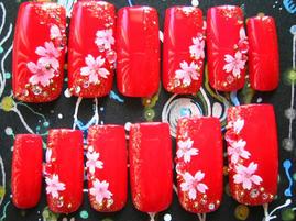 チップ12和風朱金桜