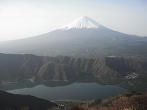 雪頭ヶ岳からの富士山と西湖