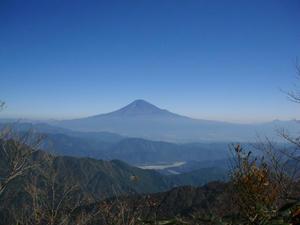 稜線からの富士山