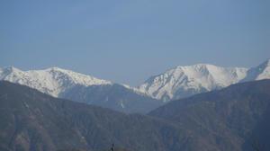 南アルプス南部の山々