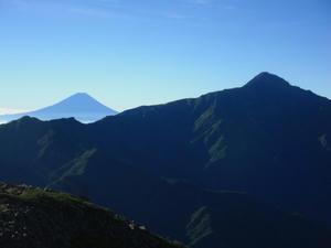 富士山と北岳