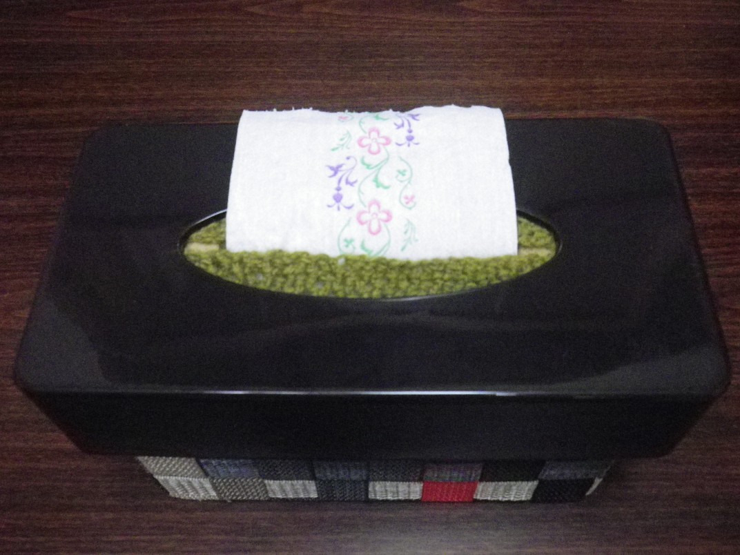 トイレットペーパーボックス 完成(正面)
