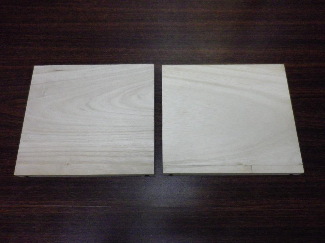 桐の板の切断