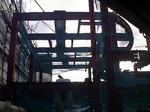 隣接工事(鉄骨組み立て)