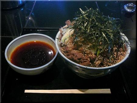 冷たい肉そば(大盛り)