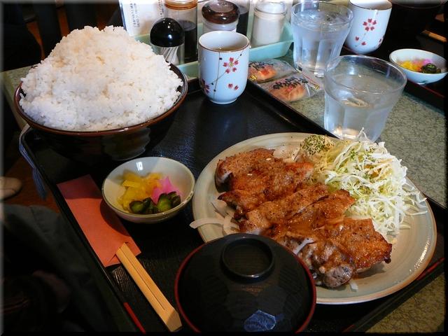 特製チキンステーキ定食(特盛り)