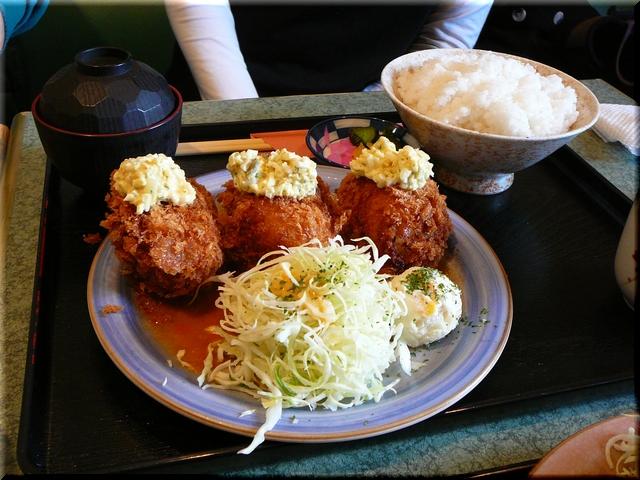特製カニクリームコロッケ定食(小盛り)