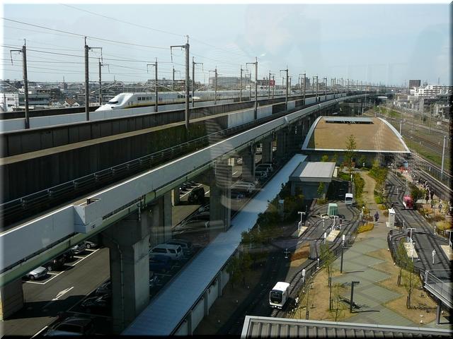 新幹線を観察