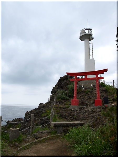 能生港灯台&厳島神社