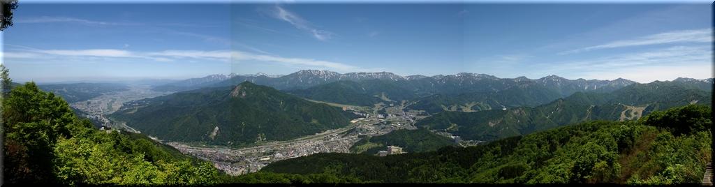 山頂展望台・パノラマ写真