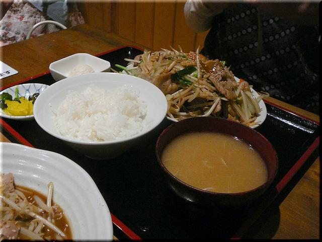 バラスタミナ炒め定食(少なめ)