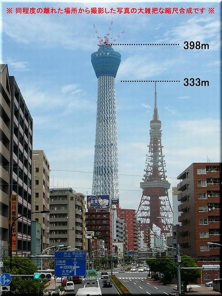 東京タワーとの合成写真