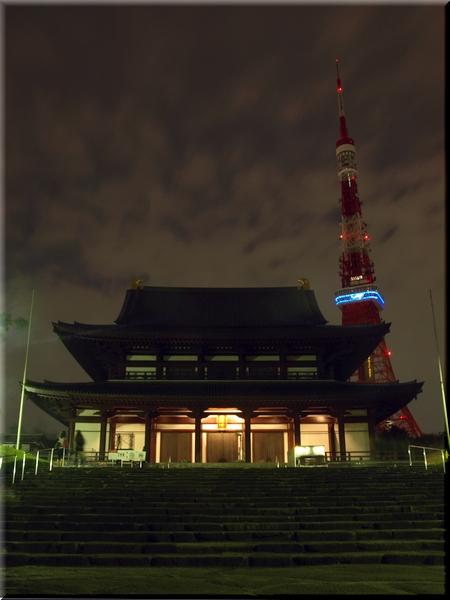 増上寺・大殿&東京タワー