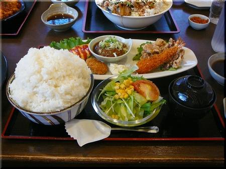 ミックスプレート定食(特盛り)