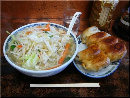 タンメン(大盛り)+餃子(6ヶ)