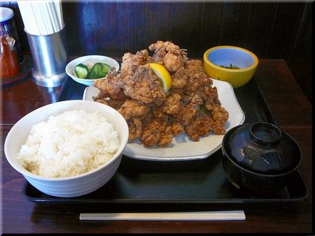 鶏竜田揚げ定食得盛り(ライス・大)