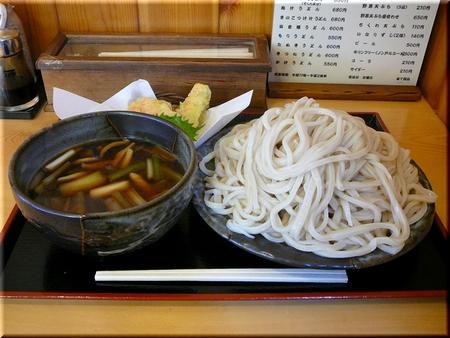 きのこつけ汁うどん+野菜天ぷら