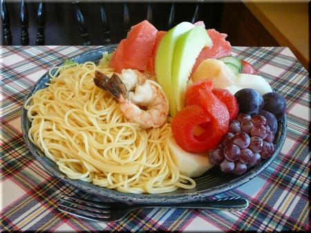 海老サラダスパゲッティー