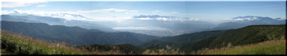 八ヶ岳、富士山、南・中央アルプス