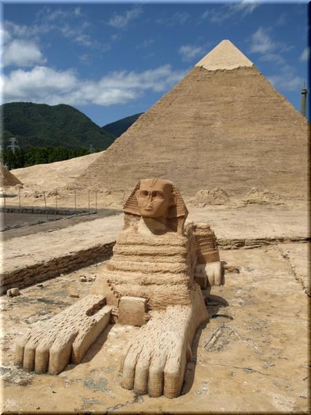 スフィンクス&カフラー王のピラミッド