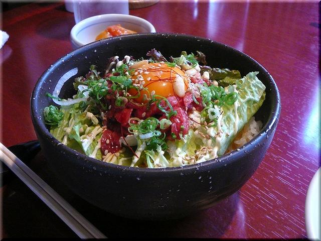 近江牛肉のユッケとろろ丼セット(大盛り)