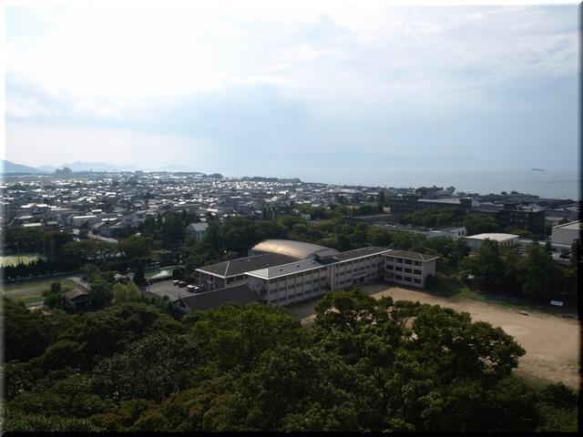 南西の景色(琵琶湖を望む)