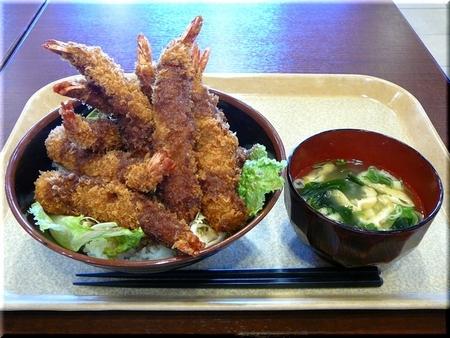 メガエビフライ丼(てんこ盛り)