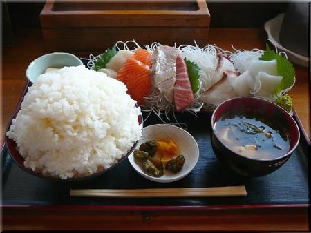 刺身盛り合わせ定食(大盛り)