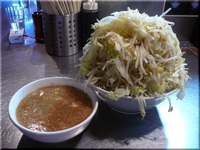 大つけラーメン(野菜増し増し)