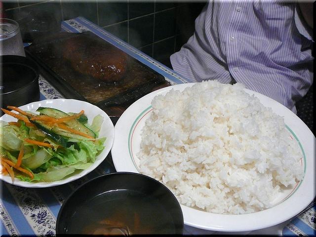 ジャンボハンバーグセット(特盛り)