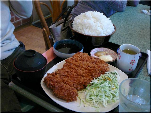 特製ロースかつ定食(ソース・特盛り)