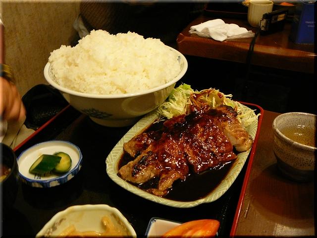 ポークみそステーキ定食(超特盛)