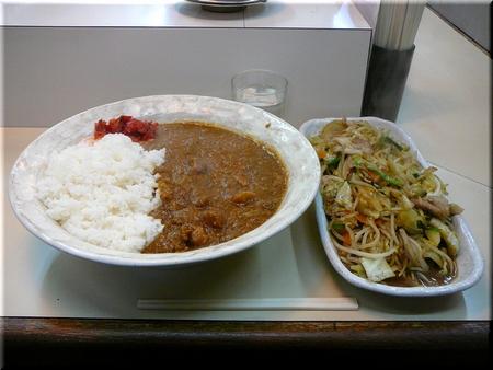 カレーライス(ジャンボ)+肉野菜炒め(ジャンボ)