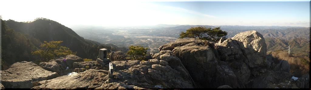 男体山からの南方のパノラマ