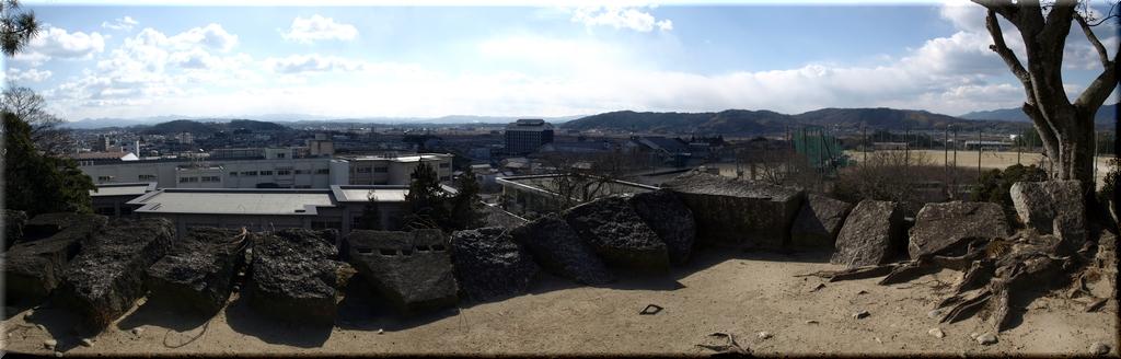 高石垣より南西を方向のパノラマ