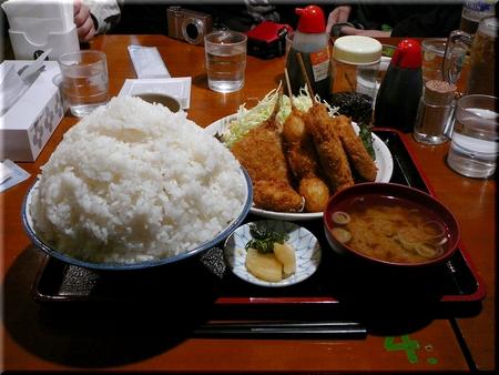 ミックスフライ定食(特特盛り)