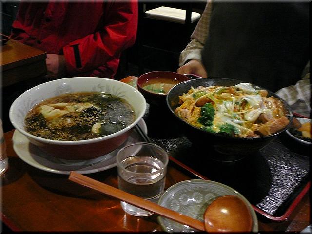 親子丼+スープギョウザ