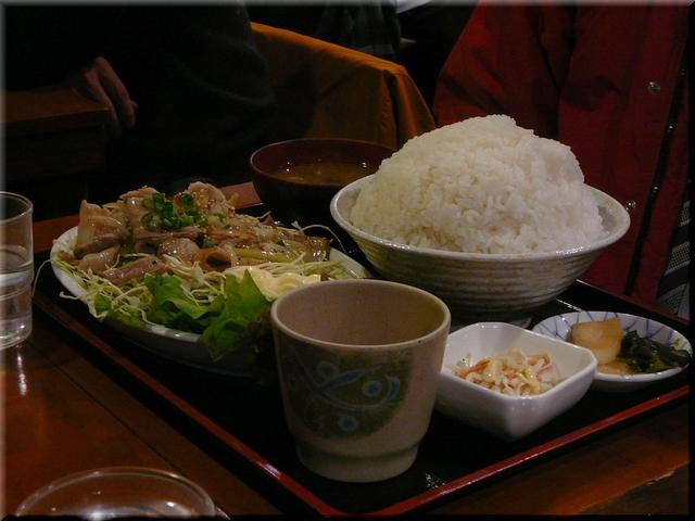 豚バラ塩焼肉定食(大盛り)