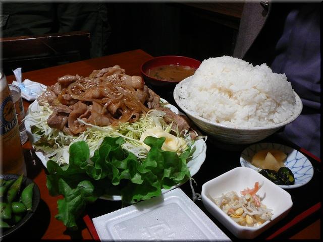 豚バラしょうが焼定食(メガ・大盛り)