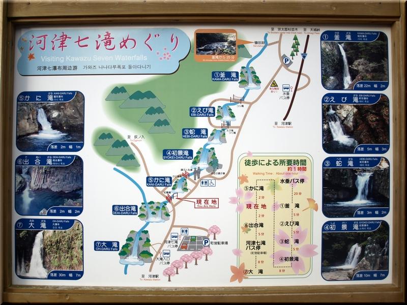 七滝案内図