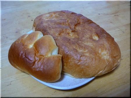 ジャンボパン+クリームパン