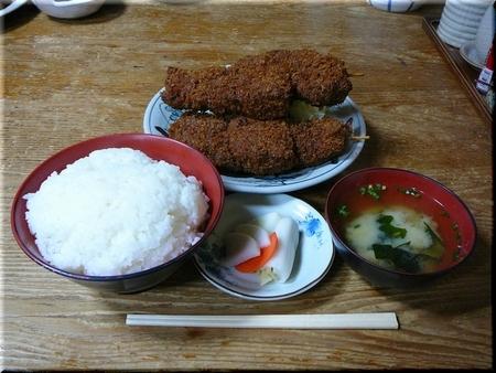 串カツ定食(大盛り)