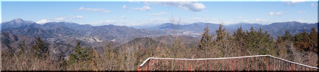 道志山系や大菩薩連嶺など