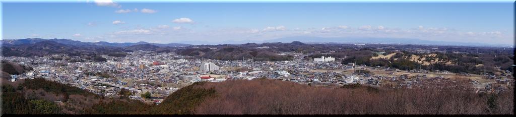 小川町が一望できるパノラマ