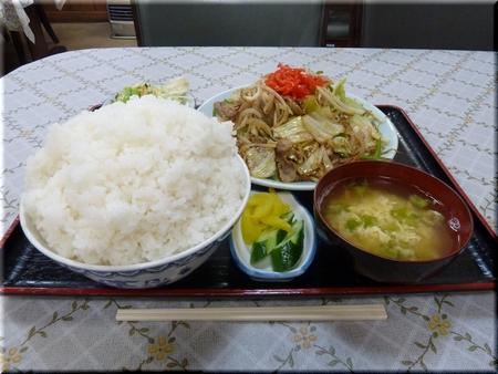 野菜炒め定食(ご飯・おかず大盛り)